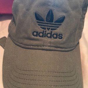 Olive green adidas baseball cap